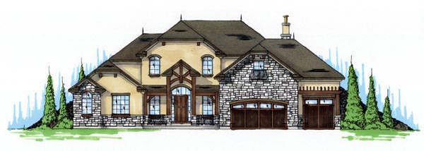 Traditional House Plan 79933 with 4 Beds, 4 Baths, 3 Car Garage Elevation