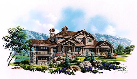 Traditional House Plan 79936 with 6 Beds, 6 Baths, 3 Car Garage Elevation