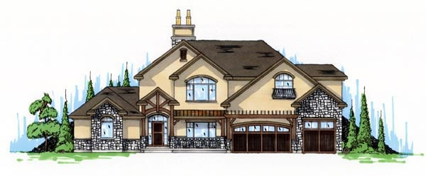 Traditional House Plan 79938 with 4 Beds, 3 Baths, 3 Car Garage Elevation