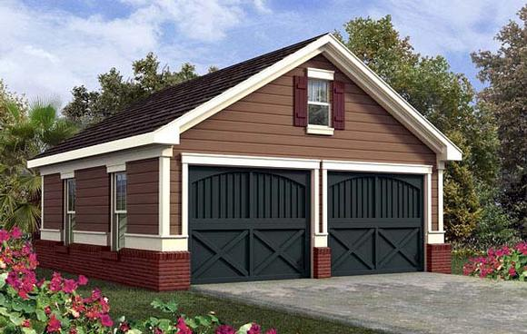 2 Car Garage Plan 80244 Elevation