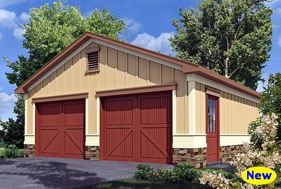 Bungalow 2 Car Garage Plan 80247 Elevation
