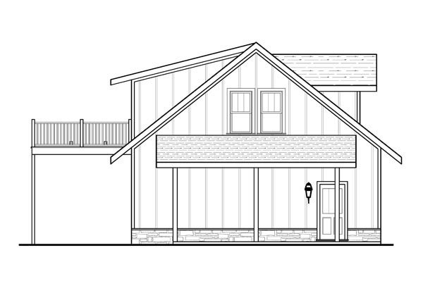 Cottage 4 Car Garage Apartment Plan 80252 with 1 Beds, 1 Baths Picture 1