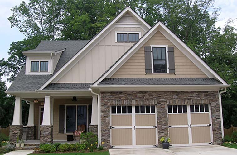 Bungalow, Cottage, Craftsman, Narrow Lot House Plan 80260 with 4 Beds, 4 Baths, 2 Car Garage Picture 5