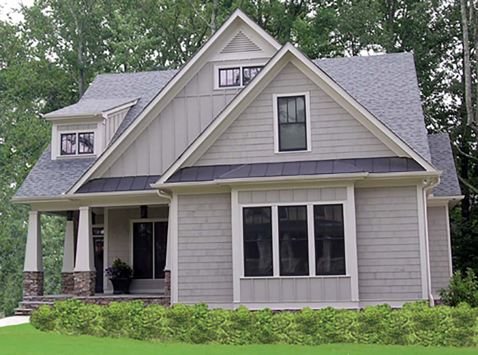 Bungalow, Cottage, Craftsman, Narrow Lot House Plan 80260 with 4 Beds, 4 Baths, 2 Car Garage Picture 9