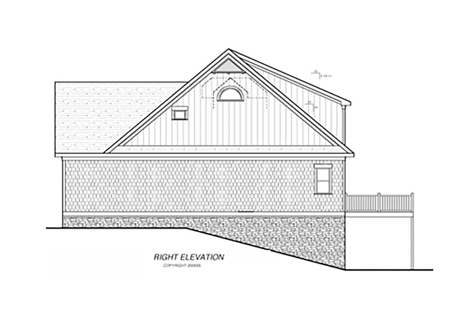 Bungalow, Cottage, Craftsman, Narrow Lot House Plan 80265 with 4 Beds, 4 Baths, 2 Car Garage Picture 1
