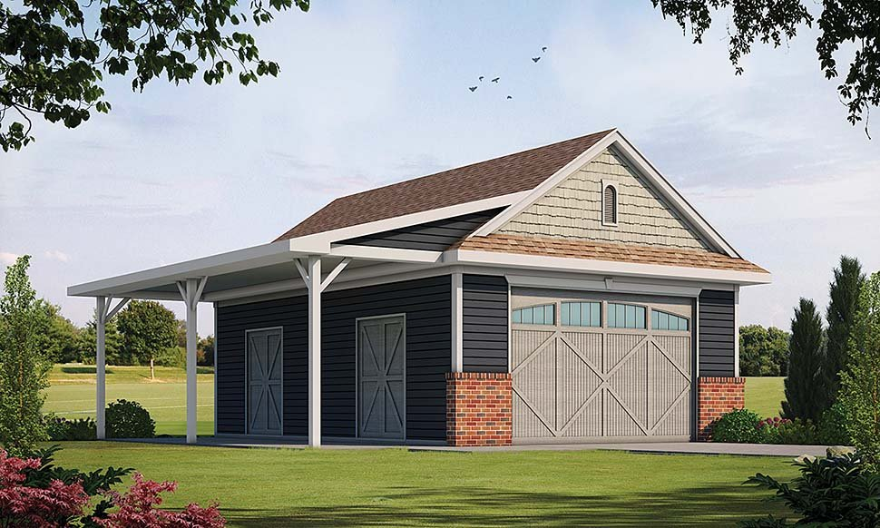 Country, Traditional 0 Car Garage Plan 80416 Elevation