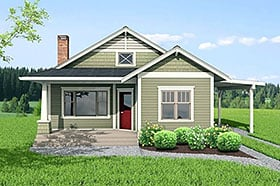 Plan Number 80504 - 1112 Square Feet