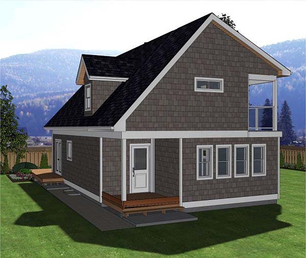 A-Frame, Cabin House Plan 80517 with 3 Beds, 3 Baths Picture 1