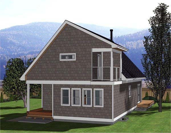 A-Frame, Cabin House Plan 80517 with 3 Beds, 3 Baths Picture 2