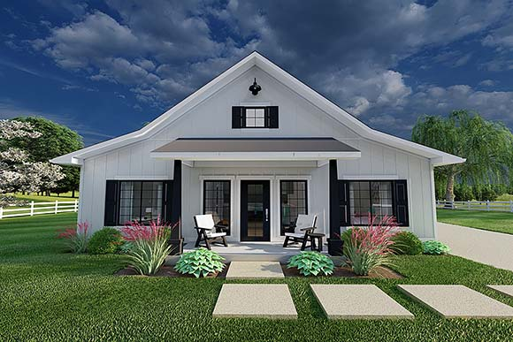 Country, Farmhouse, Ranch House Plan 80524 with 3 Beds, 2 Baths, 2 Car Garage Elevation