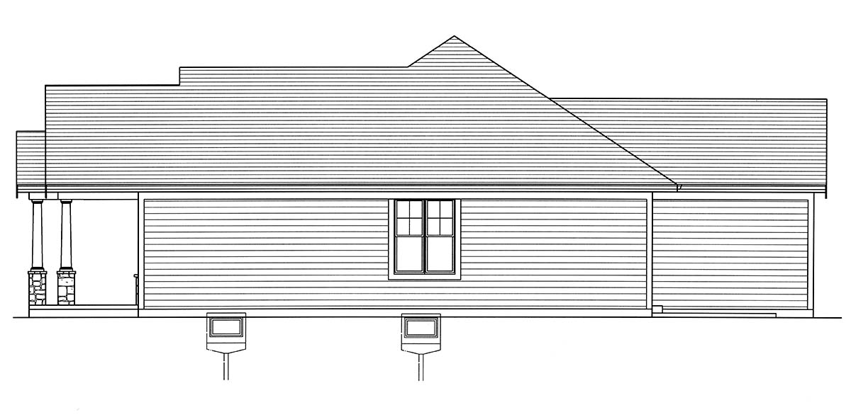 Bungalow, Cottage, Craftsman, Ranch House Plan 80607 with 3 Beds, 2 Baths, 2 Car Garage Picture 1