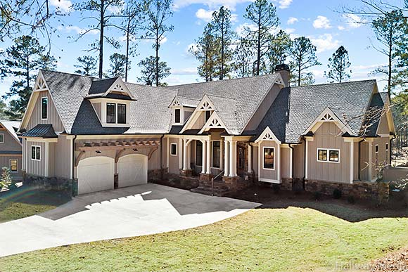 Craftsman, Ranch, Traditional House Plan 80741 with 4 Beds, 5 Baths, 2 Car Garage Elevation