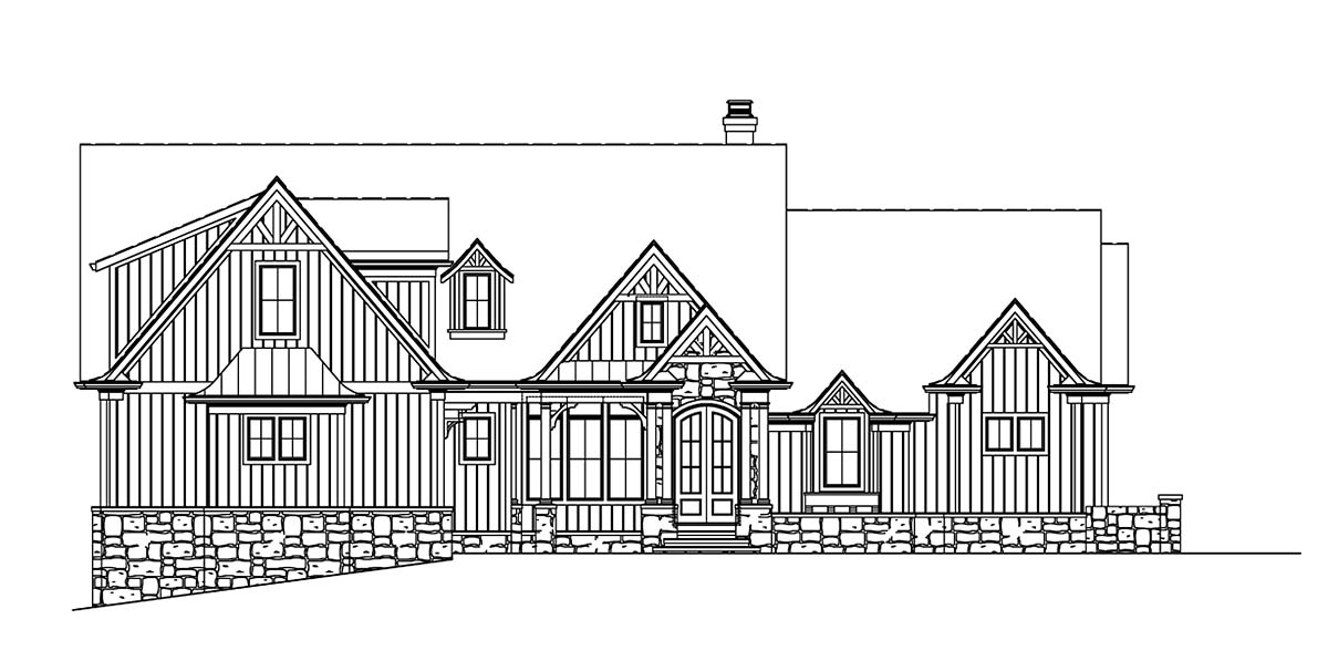 Craftsman, Ranch, Traditional House Plan 80741 with 4 Beds, 5 Baths, 2 Car Garage Picture 1