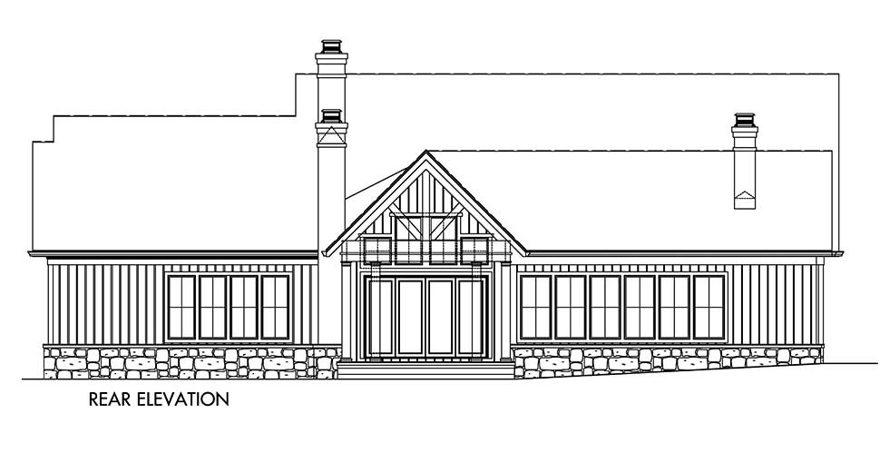 Craftsman, Ranch, Traditional House Plan 80741 with 4 Beds, 5 Baths, 2 Car Garage Picture 2