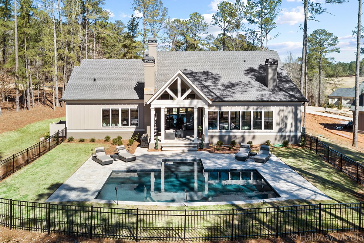 Craftsman, Ranch, Traditional House Plan 80741 with 4 Beds, 5 Baths, 2 Car Garage Rear Elevation