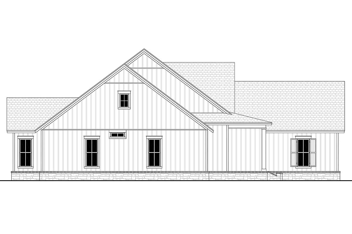 Country, Craftsman, Farmhouse, Traditional House Plan 80804 with 4 Beds, 3 Baths, 2 Car Garage Picture 2
