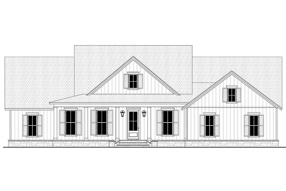 Country, Craftsman, Farmhouse, Traditional House Plan 80804 with 4 Beds, 3 Baths, 2 Car Garage Picture 3