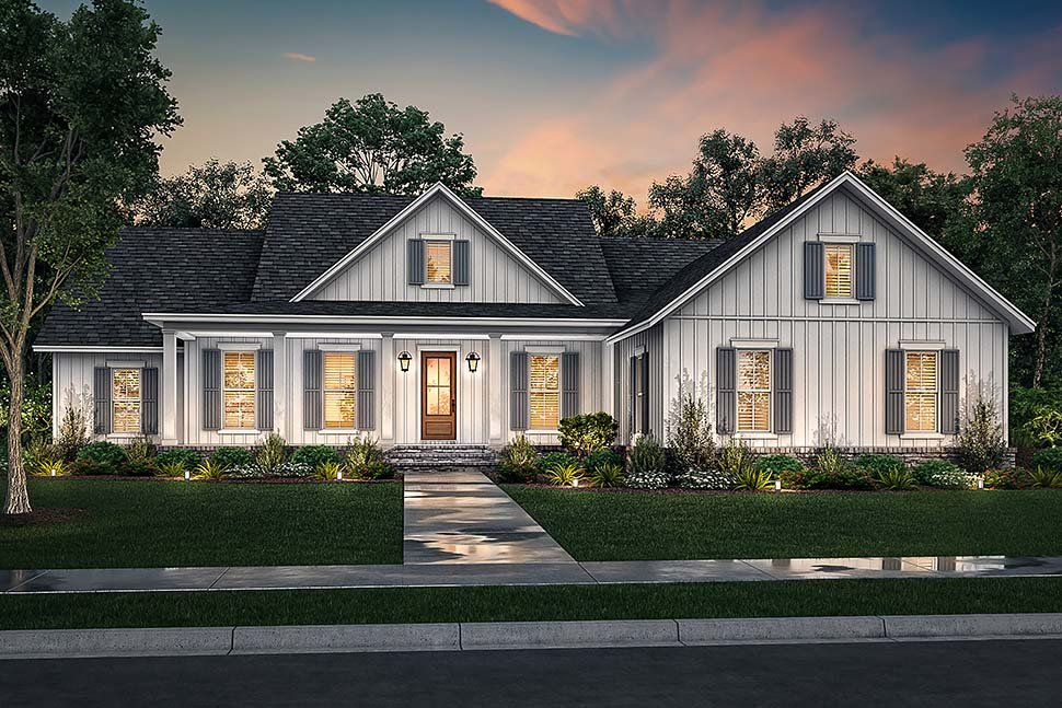 Country, Craftsman, Farmhouse, Traditional House Plan 80804 with 4 Beds, 3 Baths, 2 Car Garage Picture 4