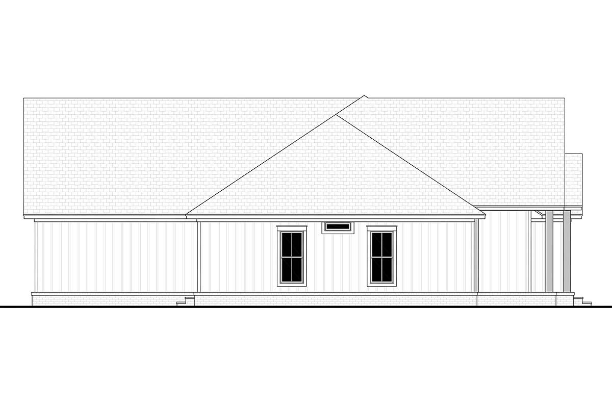 Country, Farmhouse, Southern, Traditional House Plan 80805 with 3 Beds, 3 Baths, 2 Car Garage Picture 2