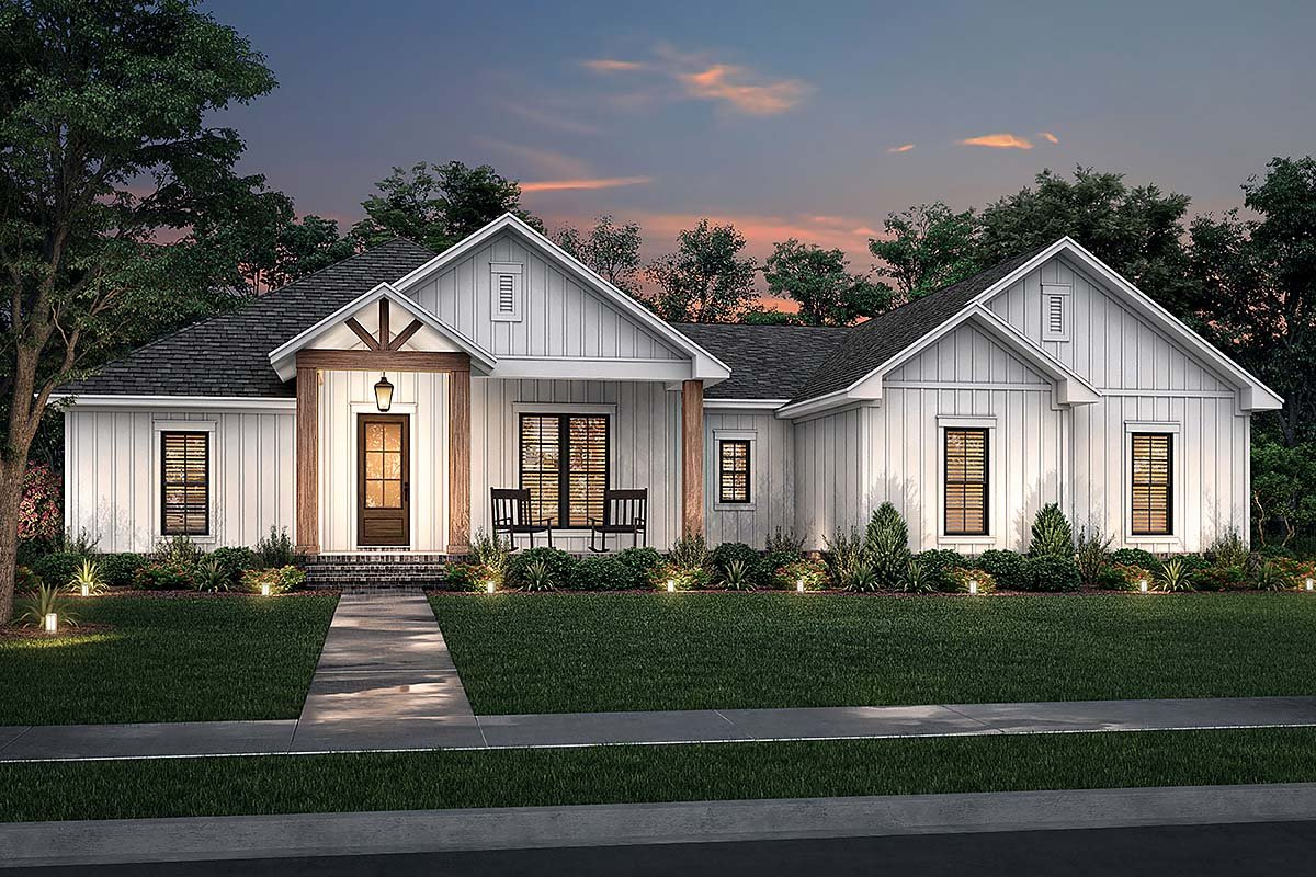 Country, Farmhouse, Ranch House Plan 80806 with 3 Beds, 3 Baths, 2 Car Garage Elevation
