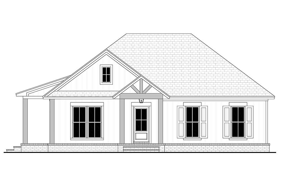 Cottage, Country, Farmhouse House Plan 80811 with 2 Beds, 2 Baths, 2 Car Garage Picture 3