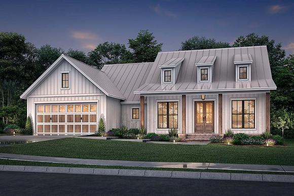 Country, Farmhouse House Plan 80813 with 3 Beds, 2 Baths, 2 Car Garage Elevation
