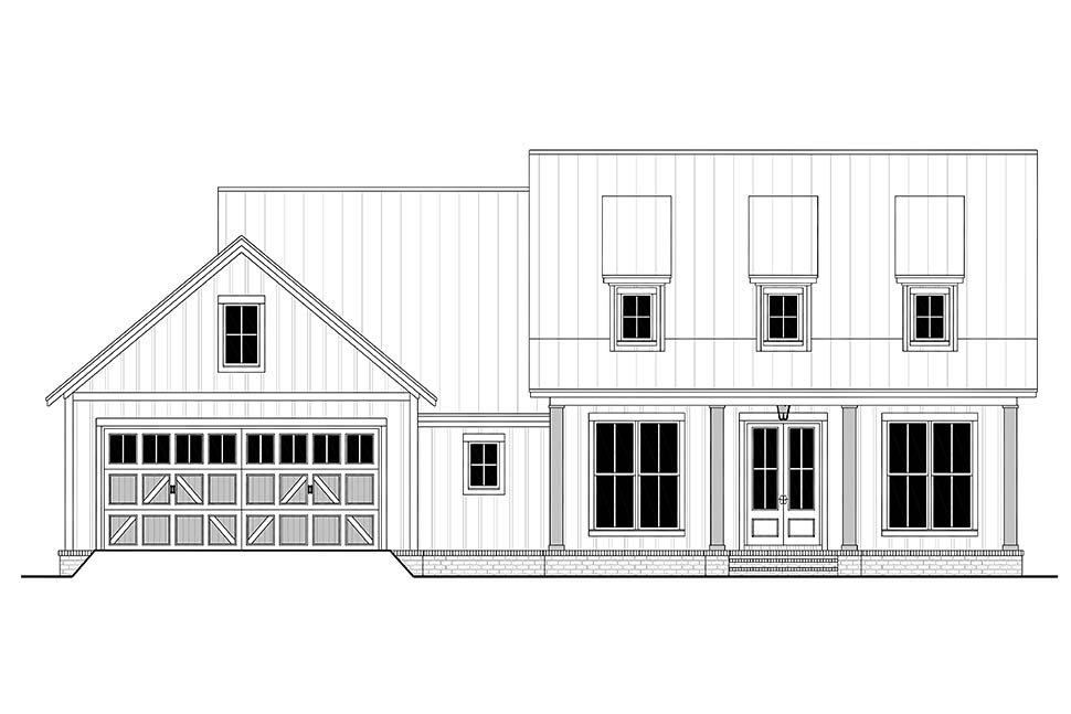 Country, Farmhouse House Plan 80813 with 3 Beds, 2 Baths, 2 Car Garage Picture 3