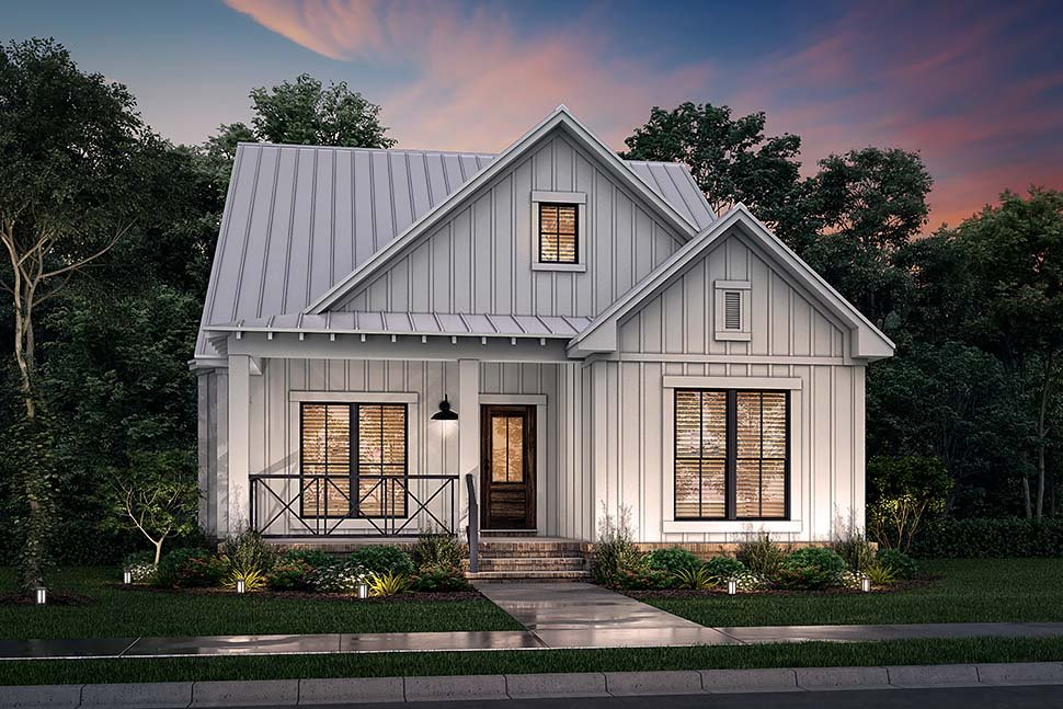 Country, Farmhouse, Traditional House Plan 80815 with 4 Beds, 4 Baths, 2 Car Garage Picture 4