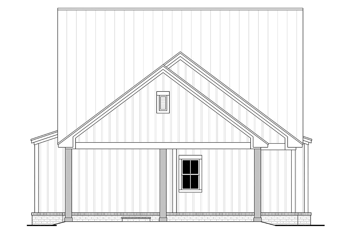 Country, Farmhouse, Traditional House Plan 80815 with 4 Beds, 4 Baths, 2 Car Garage Rear Elevation