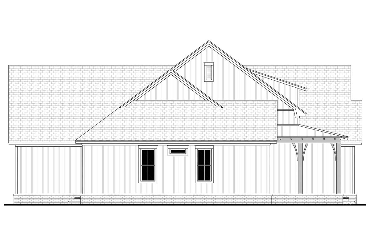 Country, Farmhouse, Traditional House Plan 80816 with 3 Beds, 3 Baths, 2 Car Garage Picture 2