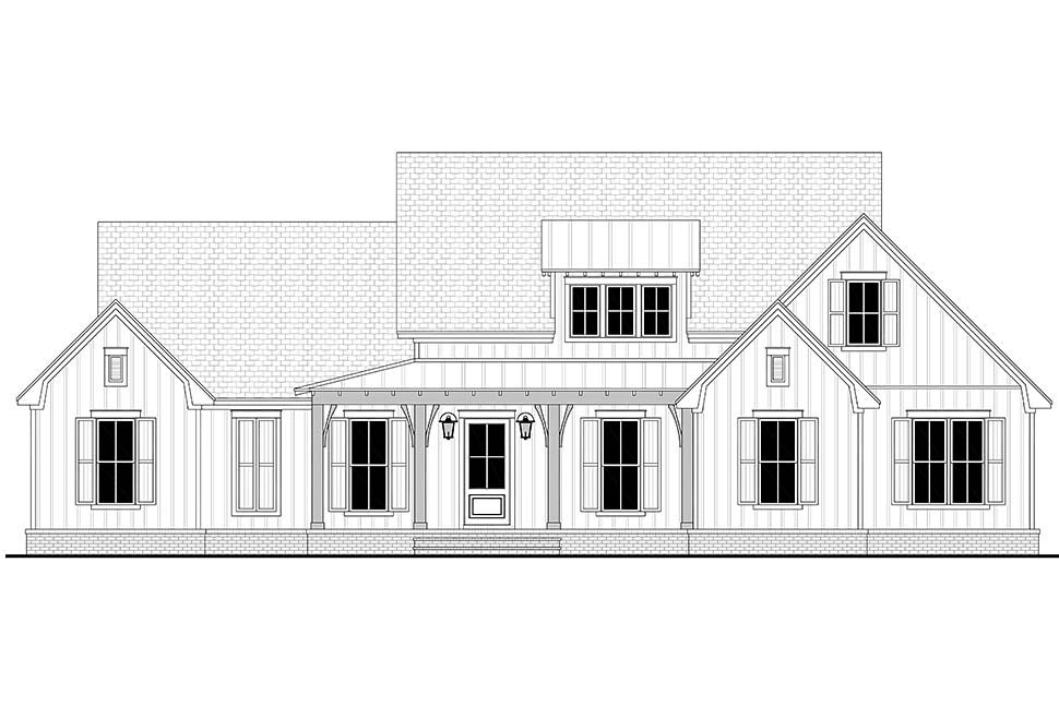 Country, Farmhouse, Traditional House Plan 80816 with 3 Beds, 3 Baths, 2 Car Garage Picture 3