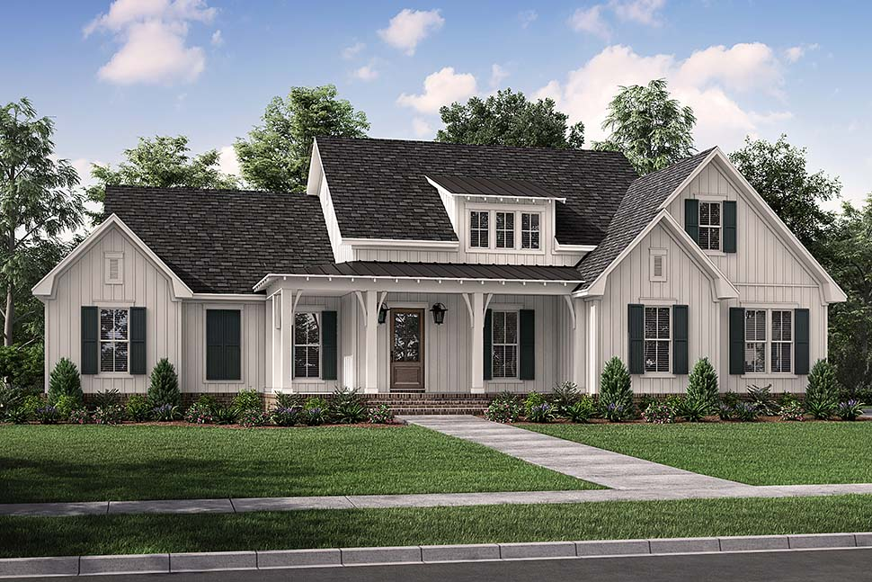 Country, Farmhouse, Traditional House Plan 80816 with 3 Beds, 3 Baths, 2 Car Garage Picture 4