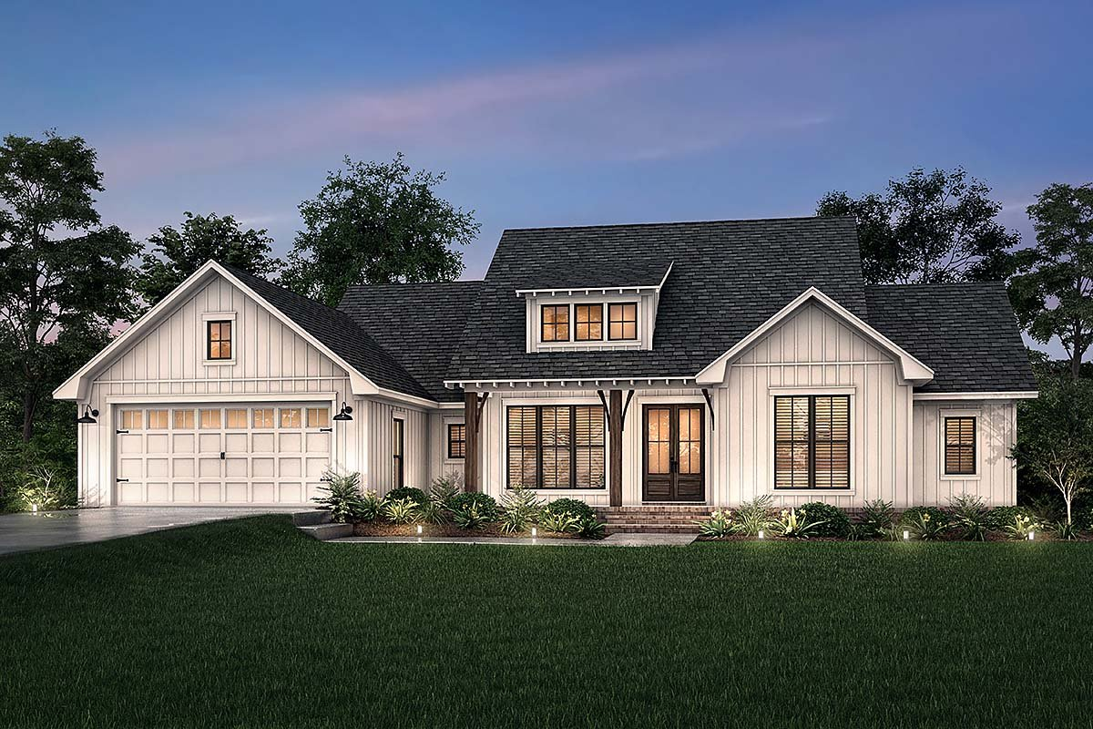 Country, Craftsman, Farmhouse, Traditional House Plan 80817 with 3 Beds, 3 Baths, 2 Car Garage Elevation