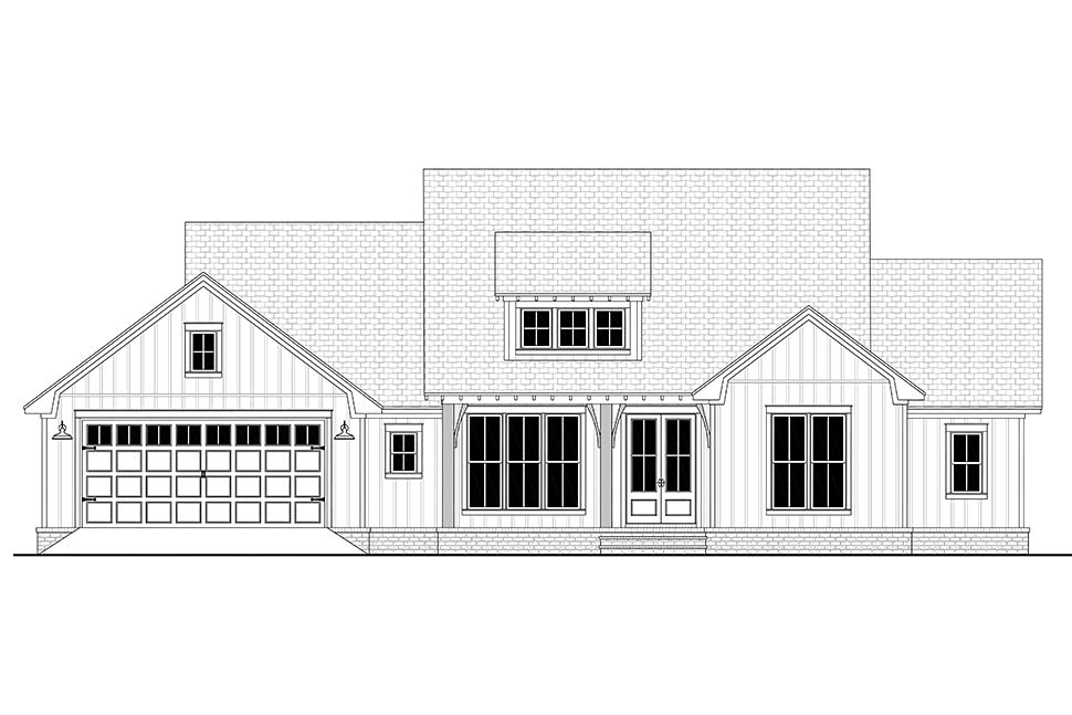 Country, Craftsman, Farmhouse, Traditional House Plan 80817 with 3 Beds, 3 Baths, 2 Car Garage Picture 3
