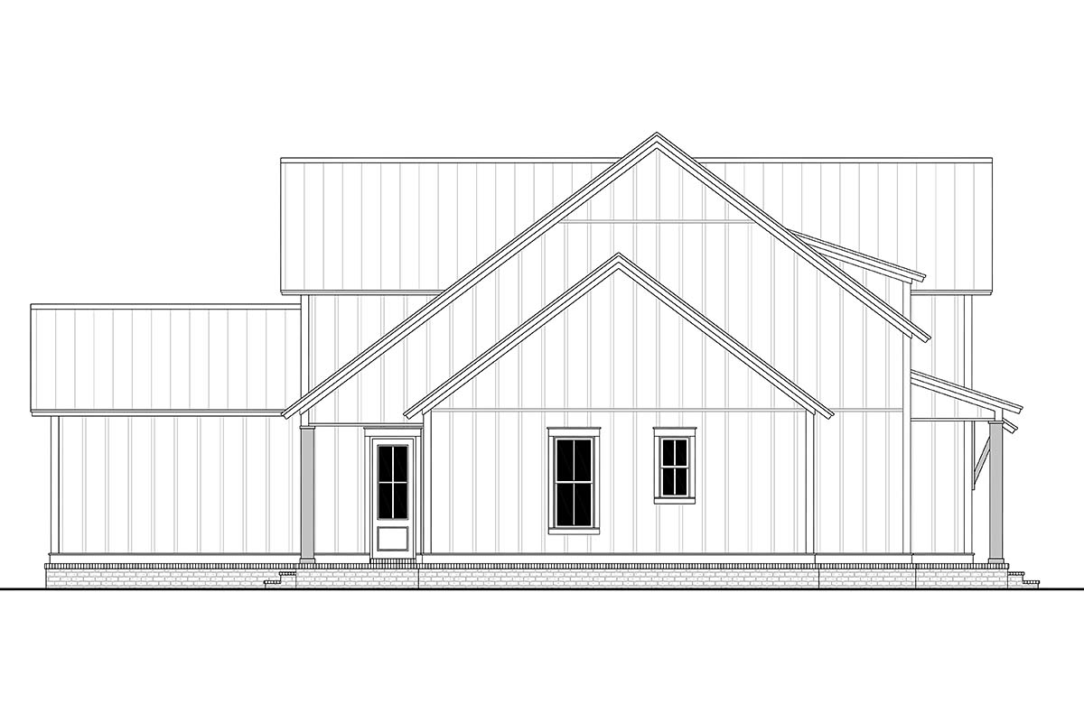 Farmhouse, French Country, Traditional House Plan 80823 with 4 Beds, 4 Baths, 2 Car Garage Picture 2