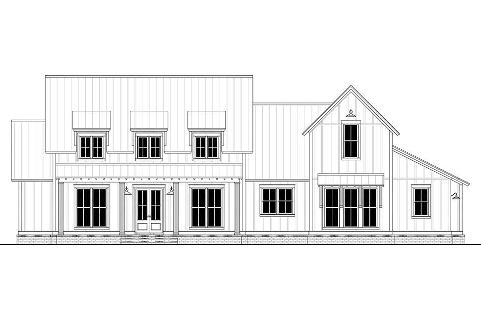 Farmhouse, French Country, Traditional House Plan 80823 with 4 Beds, 4 Baths, 2 Car Garage Picture 3