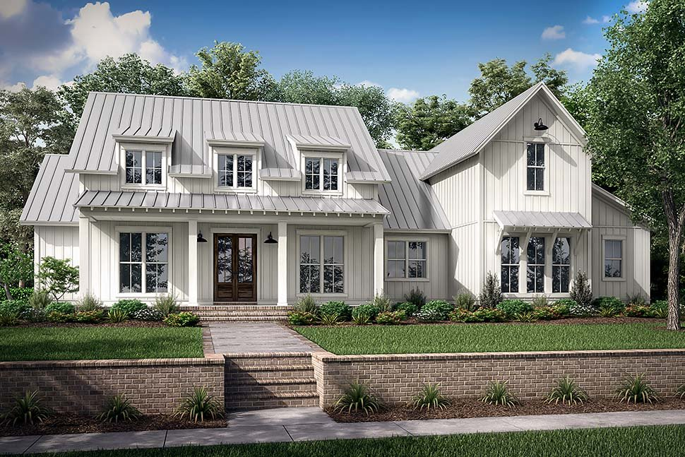 Farmhouse, French Country, Traditional House Plan 80823 with 4 Beds, 4 Baths, 2 Car Garage Picture 4