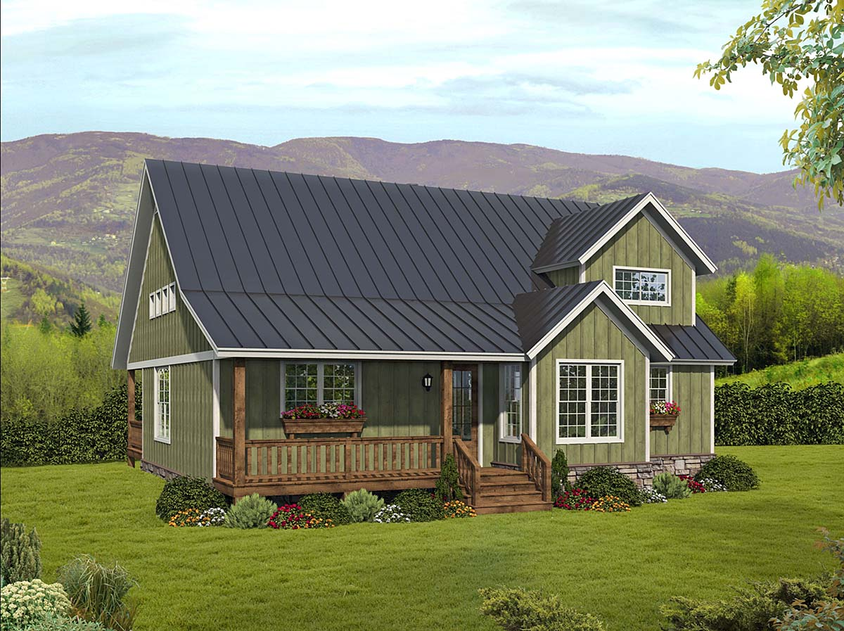 Country, Farmhouse, Traditional House Plan 80923 with 3 Beds, 3 Baths Elevation