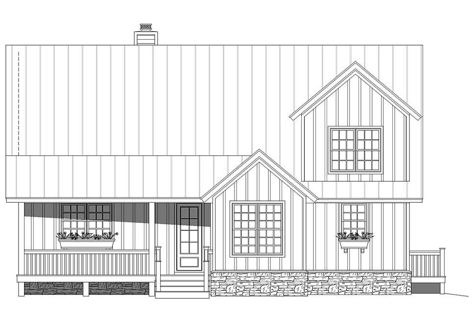 Country, Farmhouse, Traditional House Plan 80923 with 3 Beds, 3 Baths Picture 3