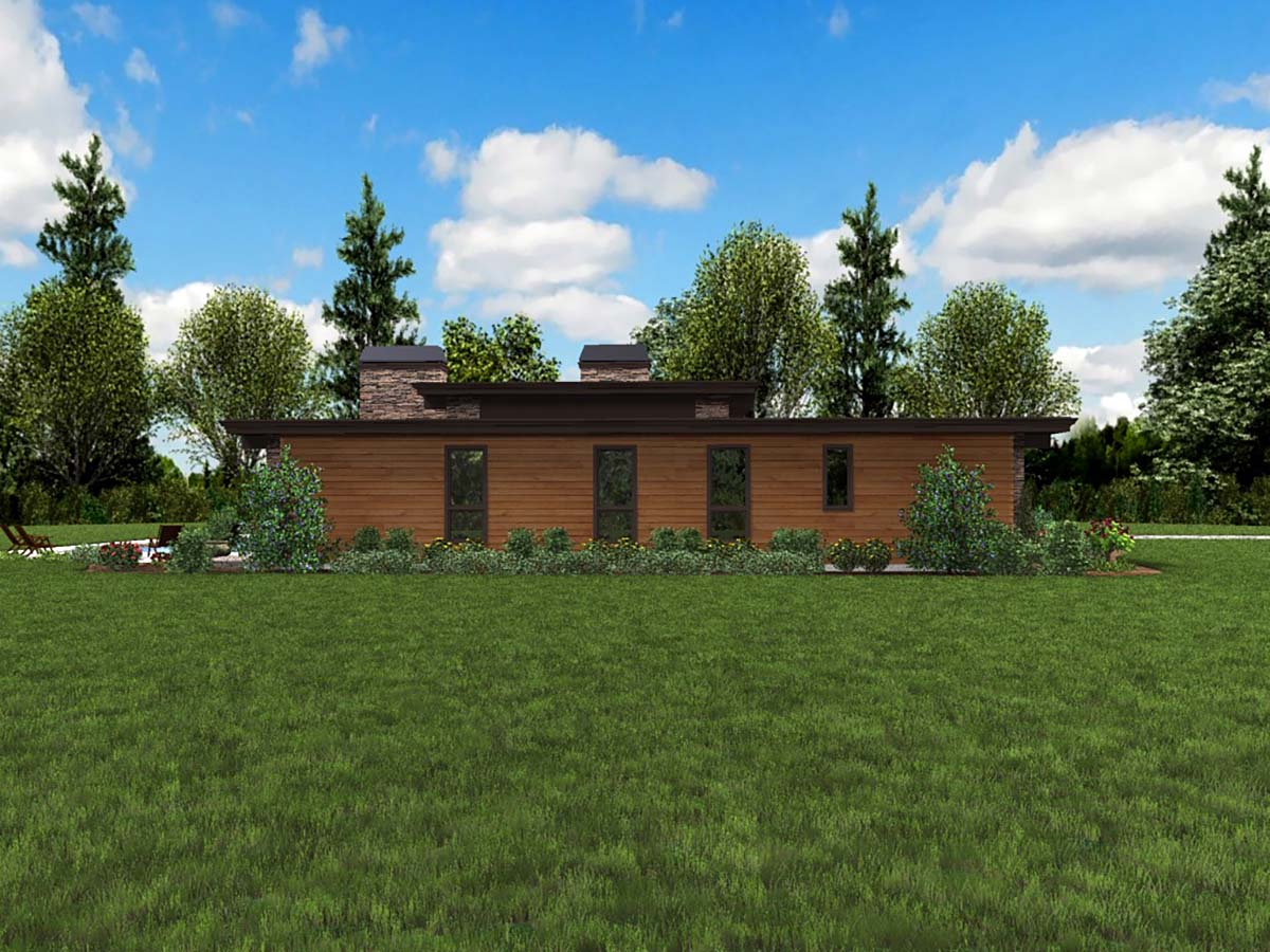 Contemporary, Modern House Plan 81203 with 3 Beds, 3 Baths, 2 Car Garage Picture 2