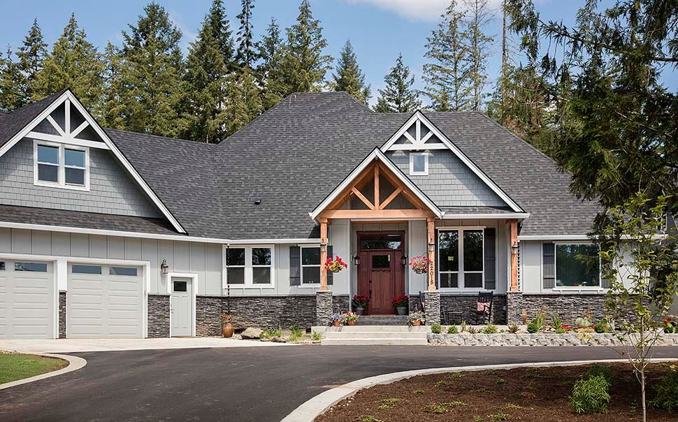 Country, Craftsman House Plan 81204 with 3 Beds, 3 Baths, 2 Car Garage Picture 2