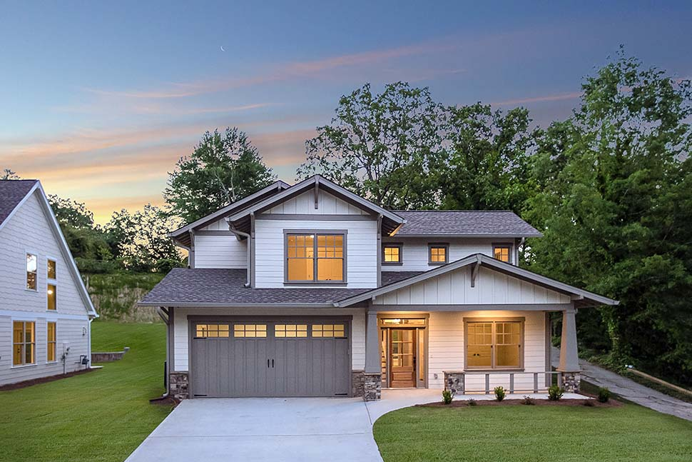 Bungalow, Craftsman House Plan 81211 with 3 Beds, 3 Baths, 2 Car Garage Picture 1