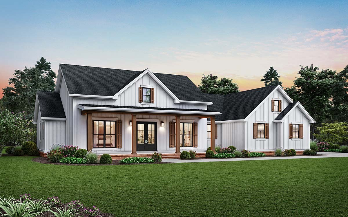 Cottage, Country, Farmhouse, Ranch House Plan 81243 with 3 Beds, 3 Baths, 2 Car Garage Elevation