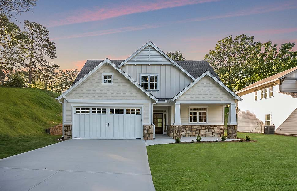 Bungalow, Craftsman House Plan 81248 with 4 Beds, 3 Baths, 2 Car Garage Picture 3