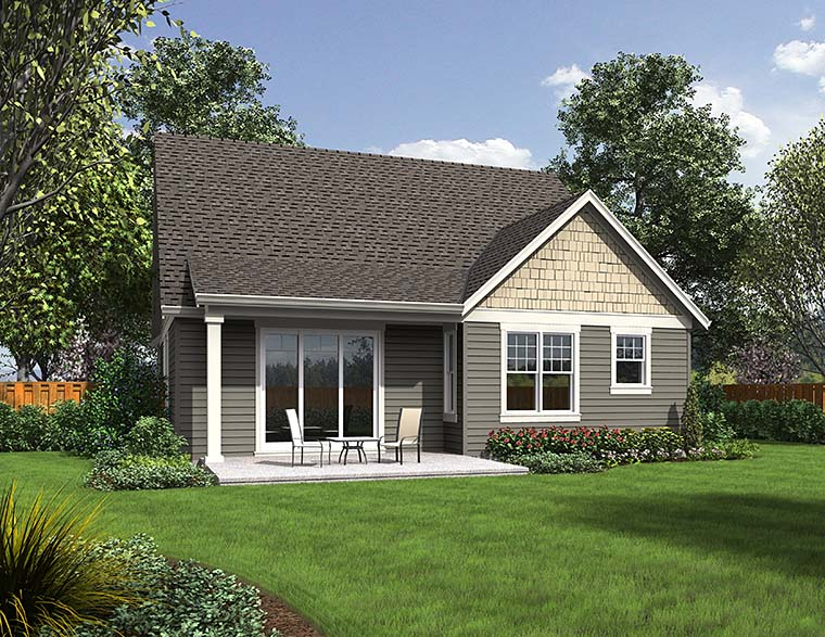 Bungalow, Craftsman House Plan 81248 with 4 Beds, 3 Baths, 2 Car Garage Picture 5