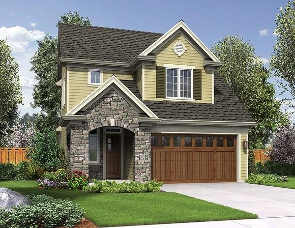 Traditional House Plan 81254 with 3 Beds, 3 Baths, 2 Car Garage Elevation