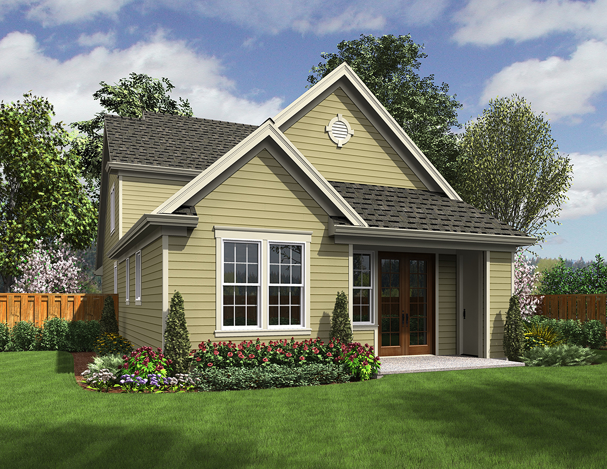 Traditional House Plan 81254 with 3 Beds, 3 Baths, 2 Car Garage Rear Elevation