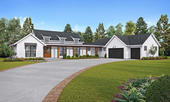 Farmhouse House Plan 81268 with 3 Beds, 3 Baths, 3 Car Garage Elevation