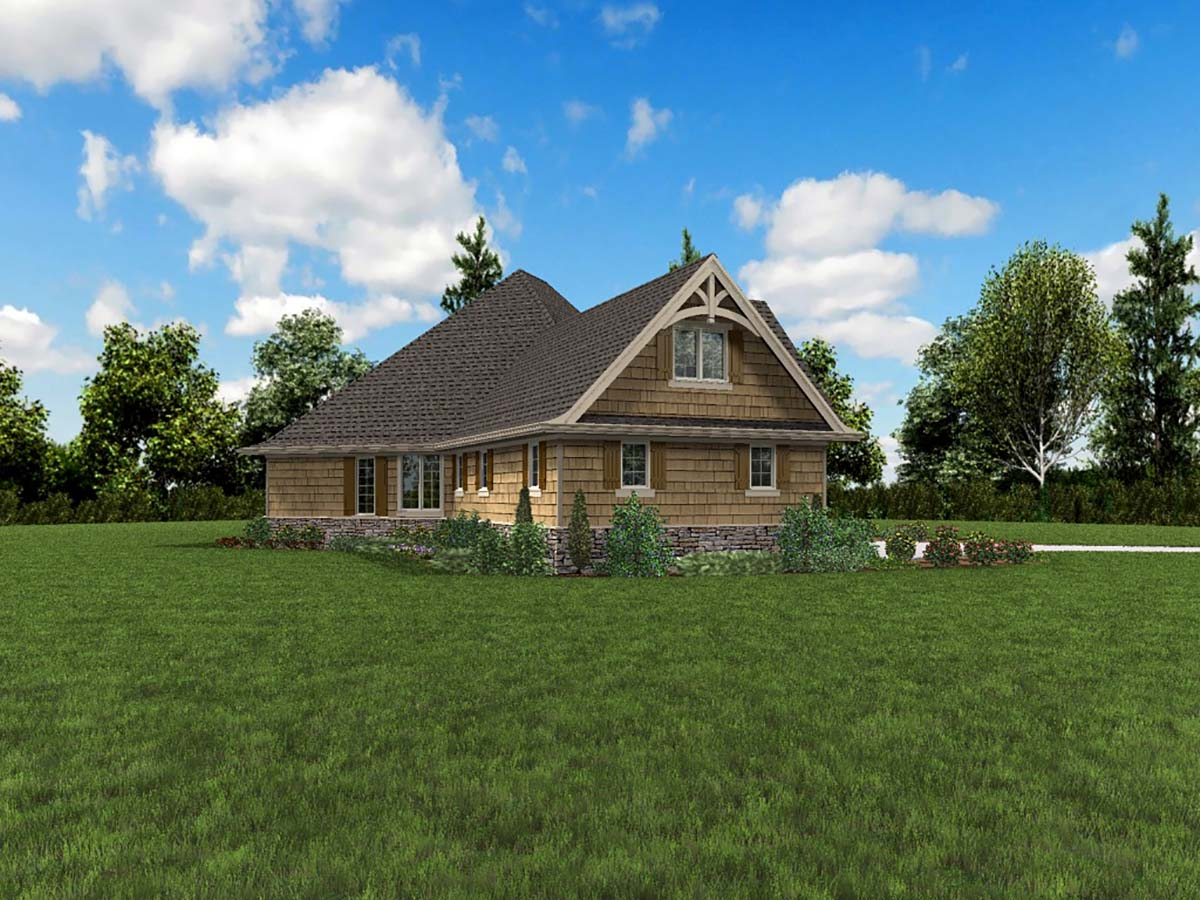 Bungalow, Craftsman, Tuscan House Plan 81272 with 4 Beds, 4 Baths, 2 Car Garage Picture 2