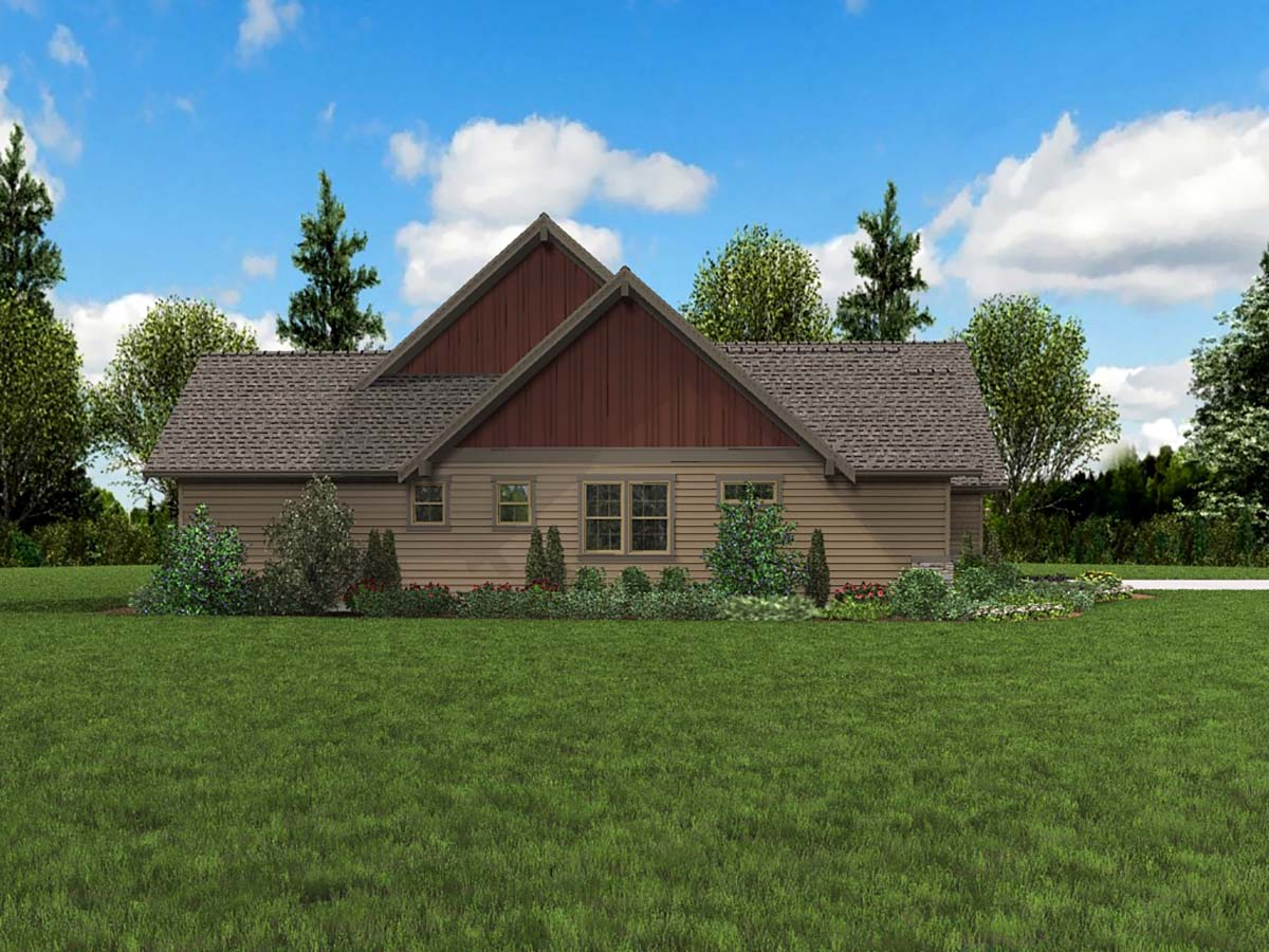 Bungalow, Craftsman, Ranch, Traditional House Plan 81273 with 3 Beds, 4 Baths, 3 Car Garage Picture 2